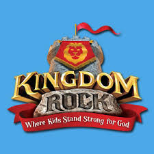 Kingdom Rock Logo Blue Background