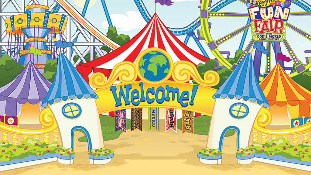 Everywhere fun fair background