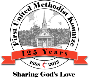 First United Methodist Kountze Logo 125 years.