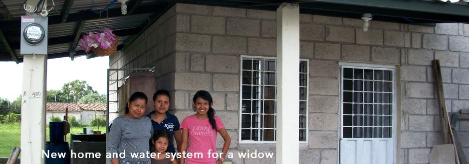 hope coffee new home and water for widow