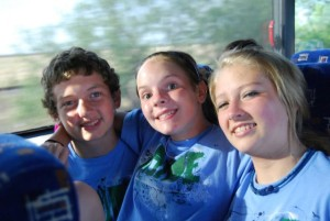 youth camp on bus