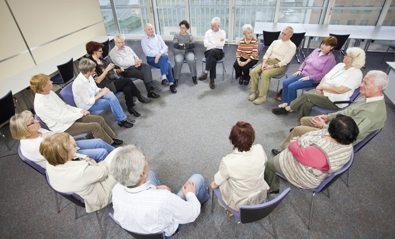 Alzheimer's support group large