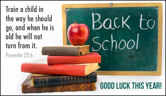 back to school christian proverbs