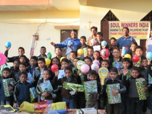 Orphans with 2012 Christmas Gifts