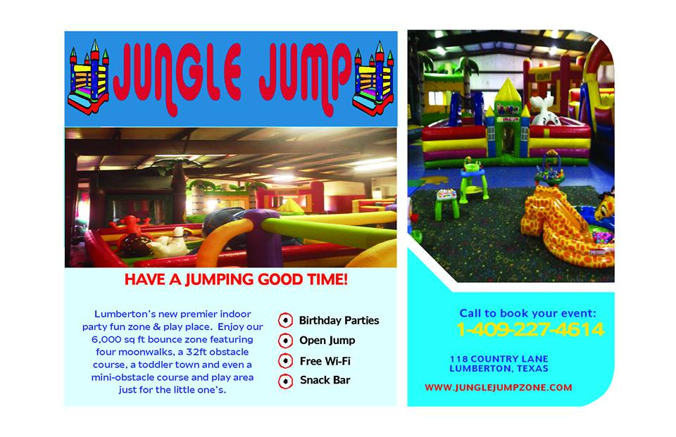 Jungle Jump Zone Lumberton Logo