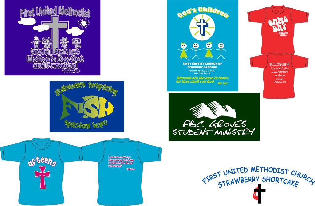 Rad Graphics Nederland, Church T Shirt Design SETX, Mid county VBS t-shirts, church polos Port Arthur, t-shirt design Mid County