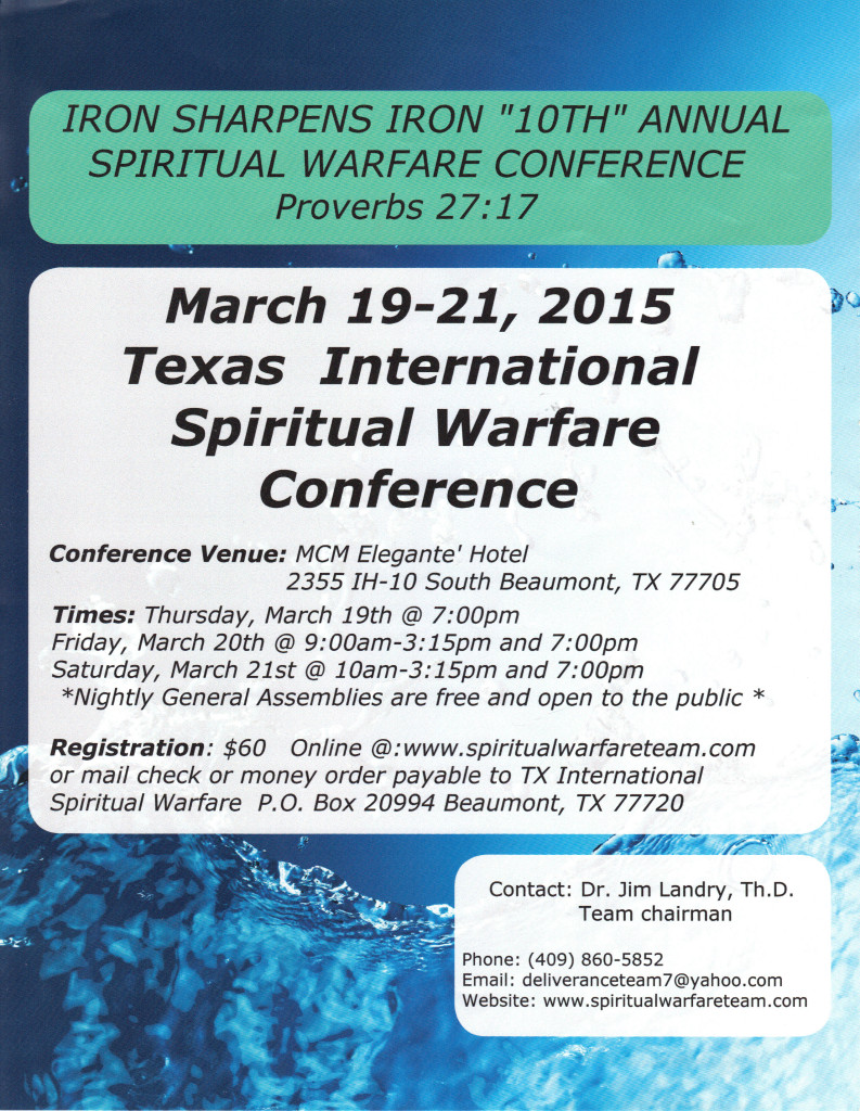 International Spiritual Warfare Conference 2015 c