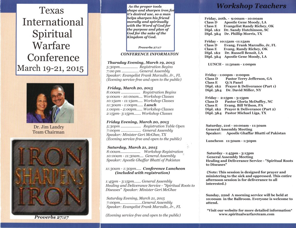 International Spiritual Warfare Conference 2015 d