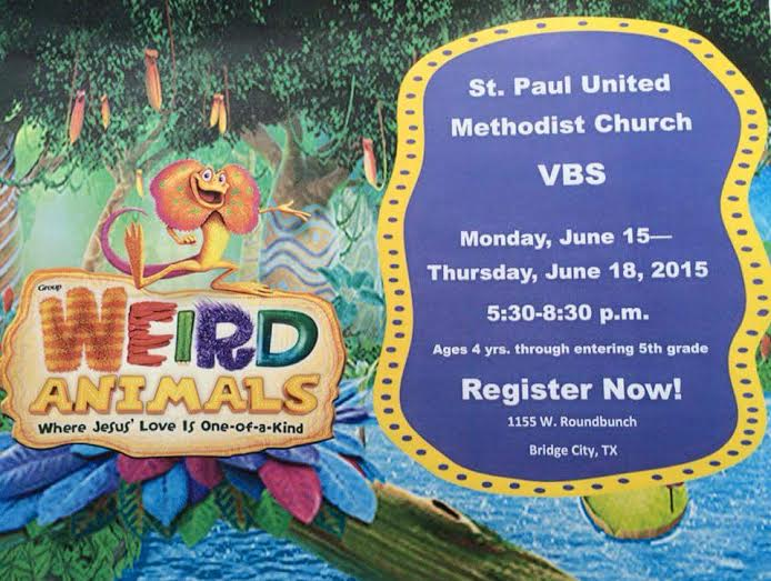VBS Schedule Bridge City Tx