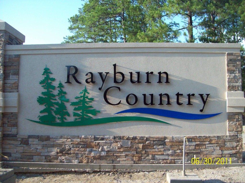County Sign Sam Rayburn, Rayburn Country, commercial signs Jasper Tx, County Sign Orange TX, Commercial Signs Bridge City TX, sign company Crystal Beach Tx, sign design Winnie TX, sign shop Hardin County TX