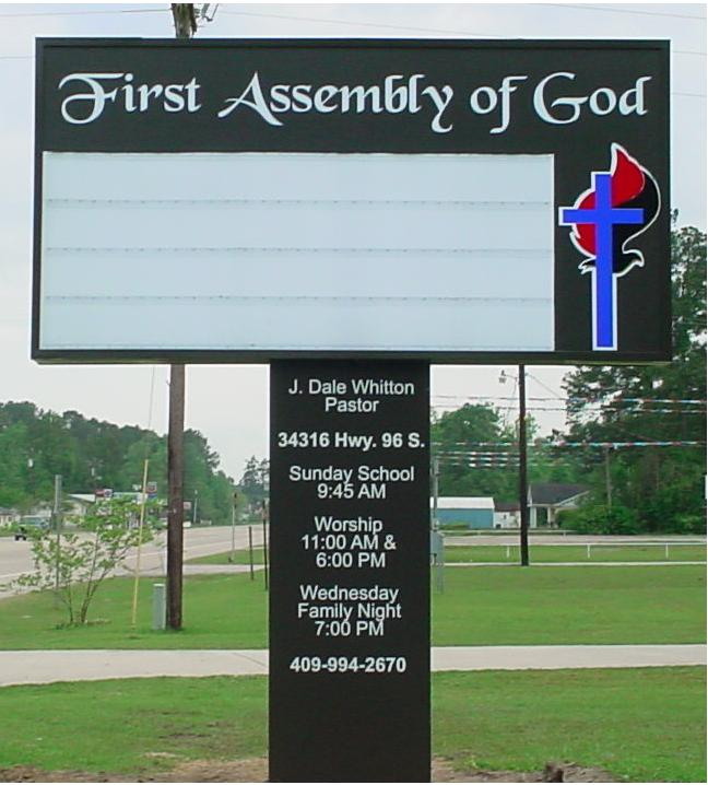 County Sign and Awning First Assembly Silsbee