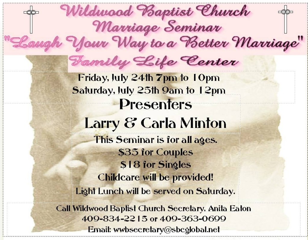 Wildwood Baptist Church Marriage Seminar 2015