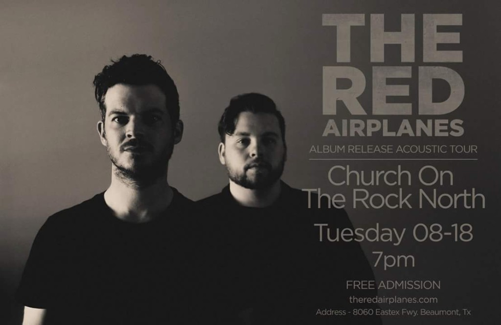 Christian Concerts in Southeast Texas - The Red Airplanes Live in Beaumont Tx