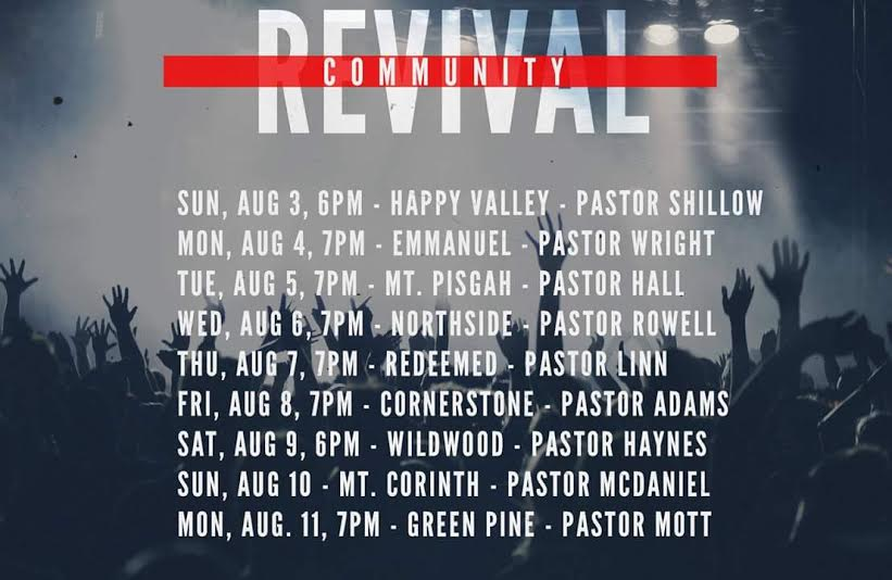 Revival Schedule Big Thicket Region - Revivals Southeast Texas