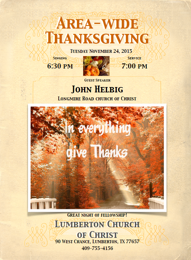 Thanksgiving Lumberton Tx, Hardin County Thanksgiving events