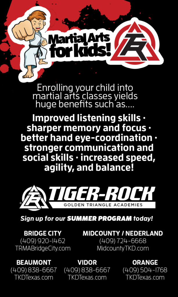 Tiger Rock Nederland TX, Summer Camp Southeast Texas, SETX summer activities, Golden Triangle kids acitivities, What can kids do in the summer in Beaumont?, Martial Arts Bridge City, Karate SETX