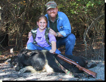 Hog hunting with kids Southeast Texas
