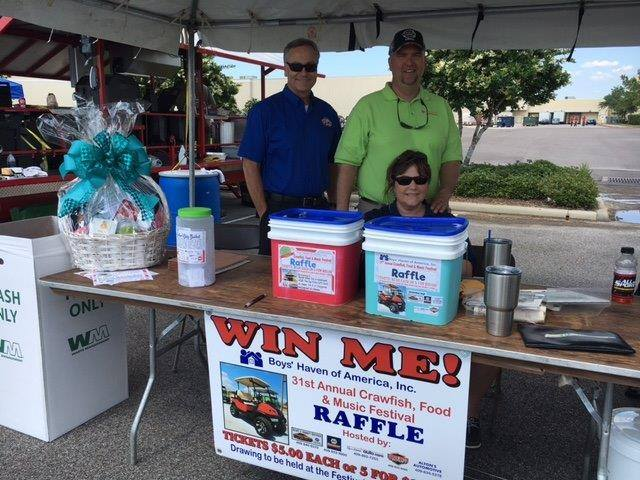 Boys Haven raffle, Boys Haven raffle Beaumont TX, Crawfish Festival Southeast Texas, SETX Crawfish Festival, Parkdale Mall Crawfish Festival