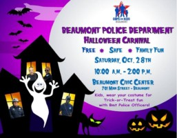 Halloween Beaumont TX, Beaumont PD Halloween Carnival, Trick or Treat Beaumont TX, Trunk or Treat Beaumont TX