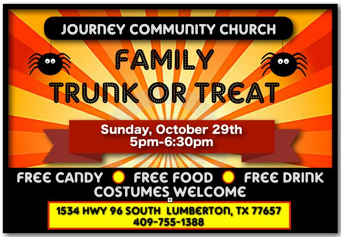 Trunk or Treat Lumberton TX, Halloween Southeast Texas, SETX Halloween, Golden Triangle Halloween Calendar