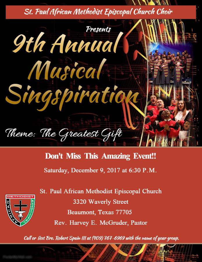 African Methodist Episcopal Church Beaumont TX, African Methodist Beaumont TX, Christmas Beaumont TX, Holiday Events Beaumont TX, Southeast Texas holiday events,