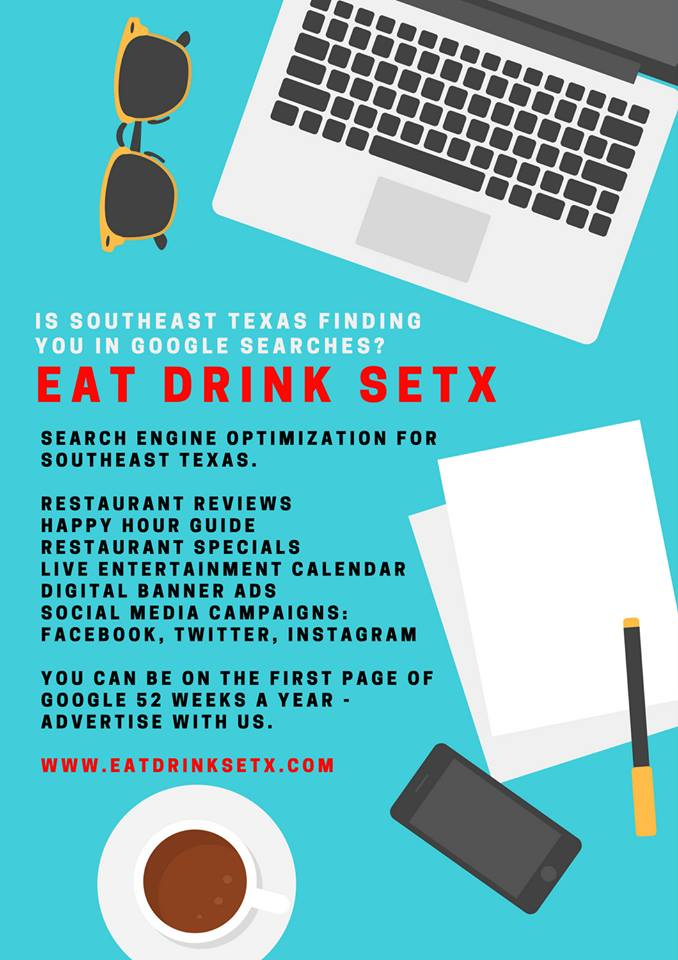 restaurant recommendations Beaumont TX, restaurant guide SETX, Golden Triangle event guide, advertising East Texas, marketing Southeast Texas, SEO Beaumont TX, Search Engine Optimization,